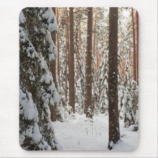 Forêt en hiver tapis de souris
