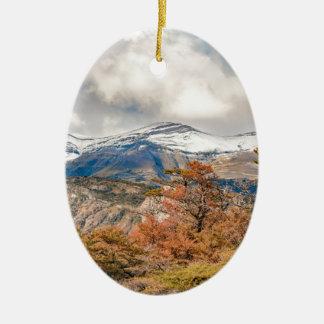 Forêt et montagnes de Milou, Patagonia, Argentine Ornement Ovale En Céramique