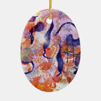 Forêt expérimentale ornement ovale en céramique