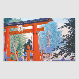 Forêt fraîche d'entrée de tombeau de Tokuriki de Autocollants Rectangulaires