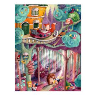 Forêt magique carte postale