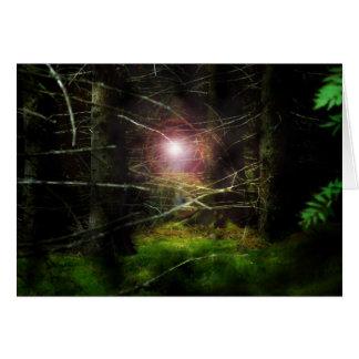 Forêt mystique carte de vœux