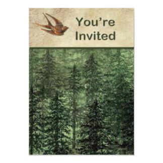 Forêt pour l'invitation d'arbres