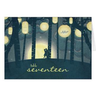 Forêt rêveuse de lanternes de souhait - carte de