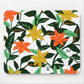 Forêt tropicale tropicale tapis de souris