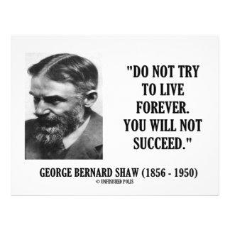 Forever non vivant de George B. Shaw Do ne pas Prospectus 21,6 Cm X 24,94 Cm