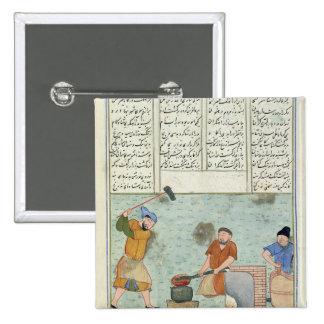 Forge en métal, de 'Shah-Nameh Badge