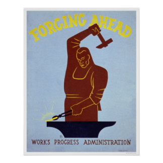 Forgeron WPA 1940 de forge Posters