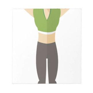 Formation de femme de forme physique bloc-note