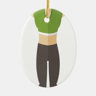 Formation de femme de forme physique ornement ovale en céramique