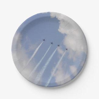 Formation de jet militaire d'Airshow Assiettes En Papier