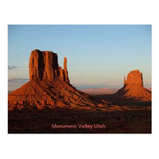 Formation de roche de désert de l'Utah de vallée Carte Postale