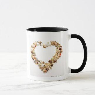 Forme assortie de coeur de forme de coquillages tasse