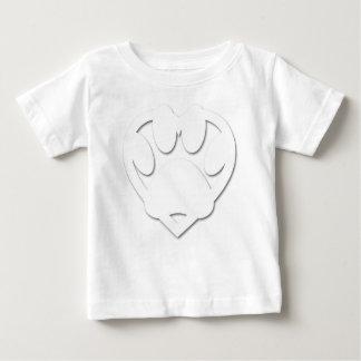 Forme de patte et de coeur de chien de coupe de t-shirt pour bébé