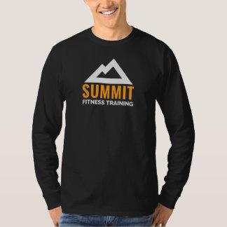 Forme physique du sommet des hommes formant le t-shirt