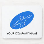 Forme physique Mousepad personnalisable - bleu Tapis De Souris