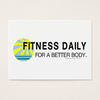 Forme physique SUPÉRIEURE quotidienne Cartes De Visite