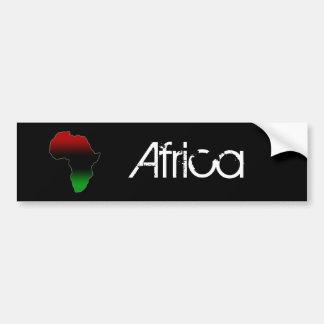 Forme rouge, noire et verte de l'Afrique Autocollant De Voiture