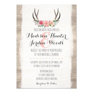 Formel personnalisé par mariage rustique floral carton d'invitation  12,7 cm x 17,78 cm