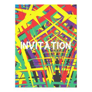 Formes abstraites carton d'invitation  16,51 cm x 22,22 cm