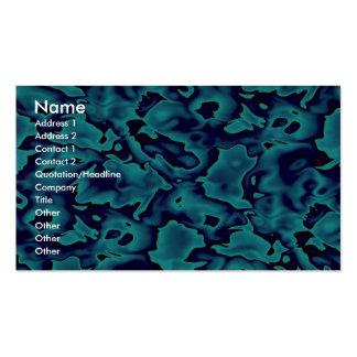 Formes bleues sauvages colorées cartes de visite personnelles