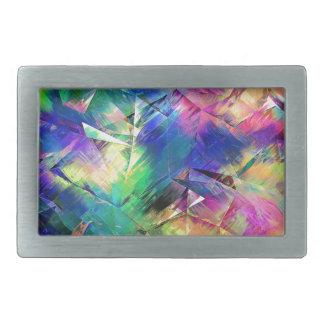 Formes colorées abstraites et textures boucle de ceinture rectangulaire