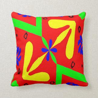 Formes colorées de style de Matisse Coussin