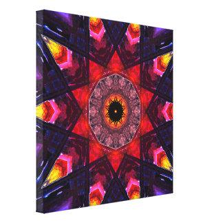 Formes colorées d'étoile toile
