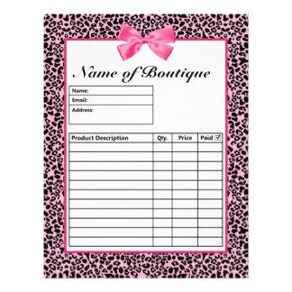 Formes d'ordre roses et noires à la mode de roses  tract customisé