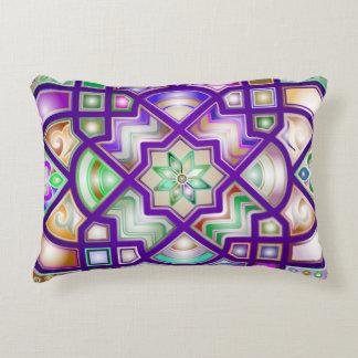 Formes géométriques chromatiques colorées coussins décoratifs