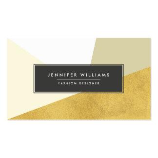 Formes géométriques de feuille d'or moderne de carte de visite standard