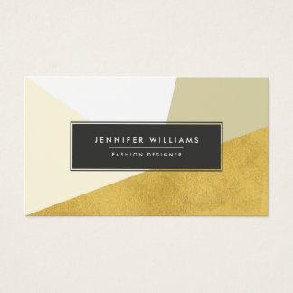 Formes géométriques de feuille d'or moderne de cartes de visite
