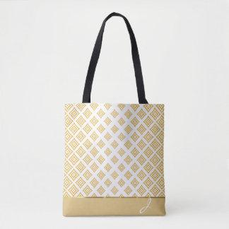 Formes géométriques de scintillement décoré d'un sac