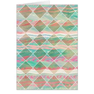 Formes géométriques en pastel modernes Girly de di Carte De Vœux