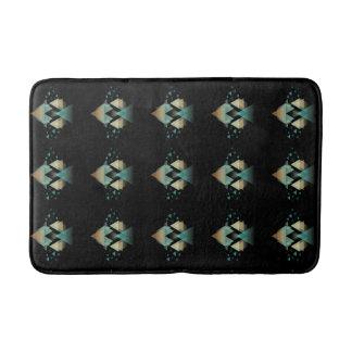 Formes géométriques en pastel sur le noir tapis de bain