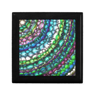 Formes spectrales incurvées petite boîte à bijoux carrée