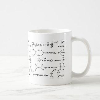 Formule chimique mug blanc