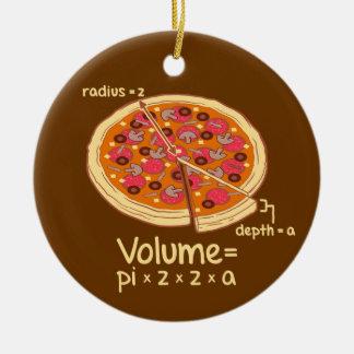 Formule mathématique = Pi*z*z*a de volume de pizza Décorations Pour Sapins De Noël