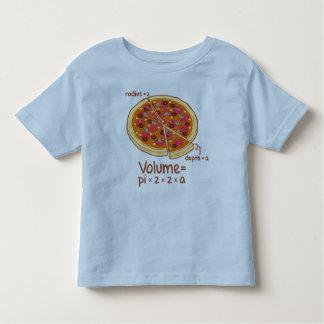 Formule mathématique = Pi*z*z*a de volume de pizza T-shirt Pour Les Tous Petits