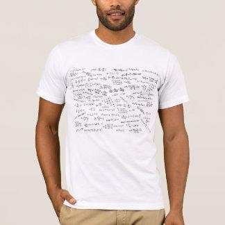 Formules et nombres de maths t-shirt