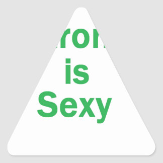 Fort est le vert sexy stickers en triangle