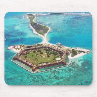 Fort Jefferson sur la clé de jardin, Tortugas sec  Tapis De Souris