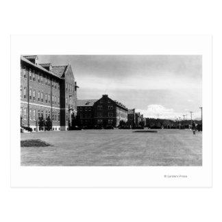 Fort Lewis, vue de WA des casernes et mont Rainier Carte Postale