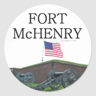 Fort McHenry d'ABH Autocollant Rond