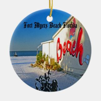 Fort Myers la Floride Ornement Rond En Céramique