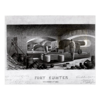 Fort Sumter, vue intérieure de batterie de Cartes Postales