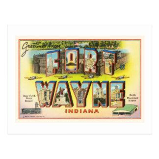 Fort Wayne #2 Indiana DANS le souvenir vintage de Carte Postale