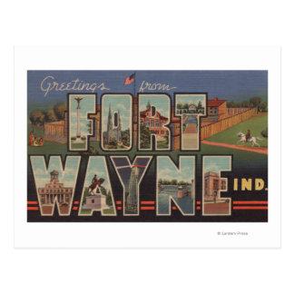 Fort Wayne, Indiana - grandes scènes 3 de lettre Carte Postale
