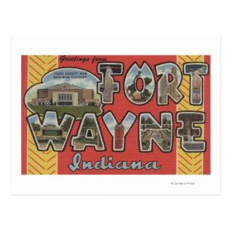 Fort Wayne, Indiana - grandes scènes de lettre Carte Postale