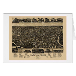 Fort Worth, carte panoramique de TX - 1886